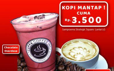Ngopi Mantap! Rp 3500 di Cuppa Coffee